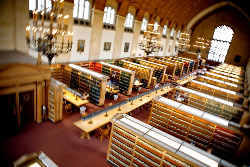 aerial view of law library