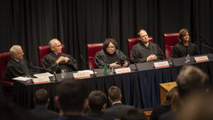 group of judges at a court table