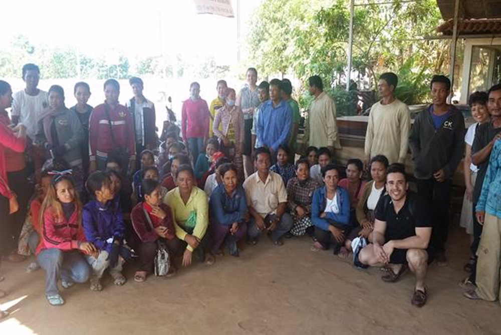 group of people in Cambodia