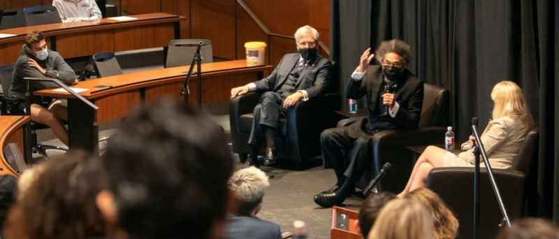 Cornel West speaks at the Civil Discourse event on September 9